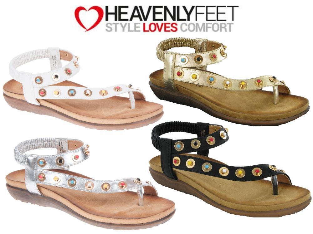 Heavenly Feet Luminous Womens Ladies Canvas Shoes Pumps Trainers Gold UK Size