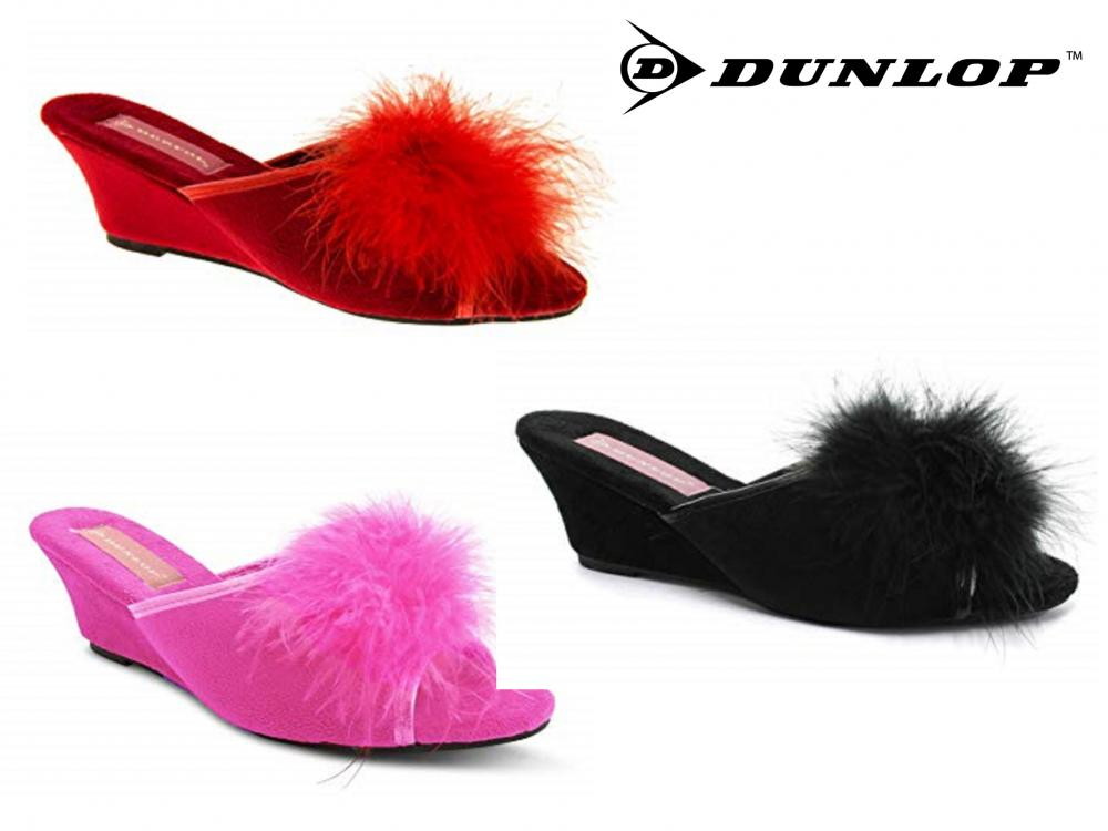 Dunlop Ladies Wedge Flip Flops
