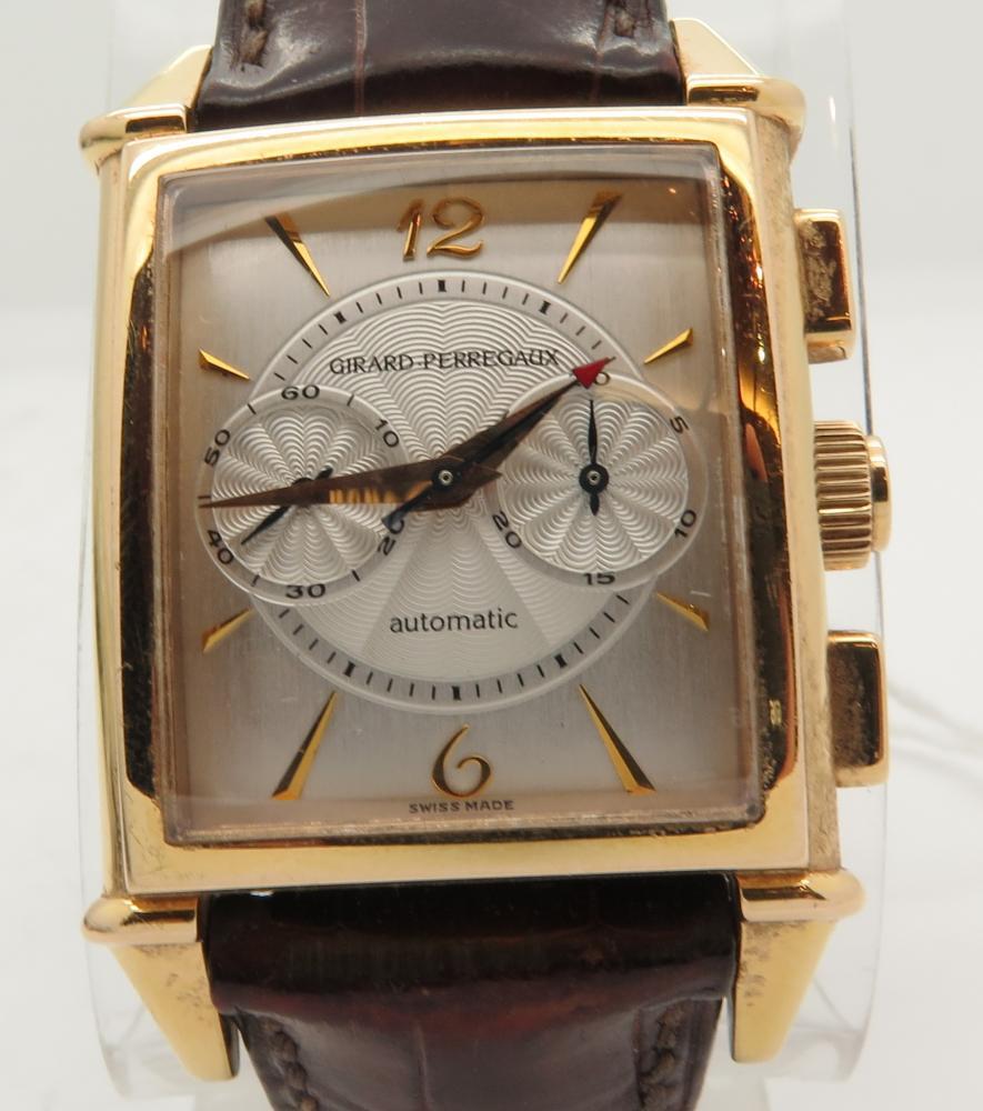 Girard perregaux vintage chronograph 18k yellow gold watch ref 2599 ebay for Vintage gold watch