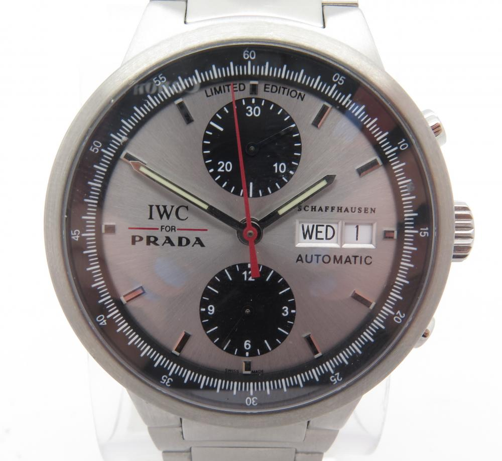iwc for prada 3708 chronograph stainless steel gents