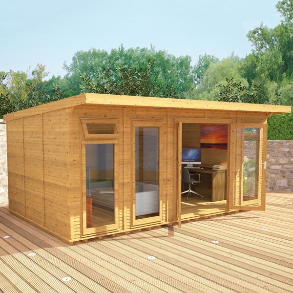 5m X 3m Waltons Wooden Insulated Garden Room Modular Home