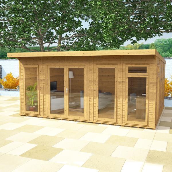 3m x 3m waltons wooden insulated garden room modular home for Garden rooms on ebay