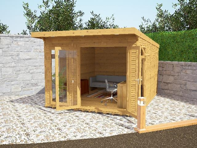 6m x 4m waltons wooden insulated garden room modular home for Modular garden rooms