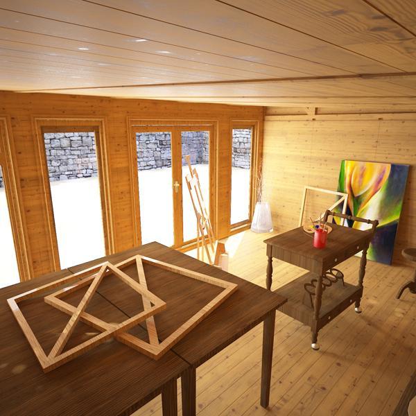 5m X 4m Waltons Wooden Insulated Garden Room Modular Home
