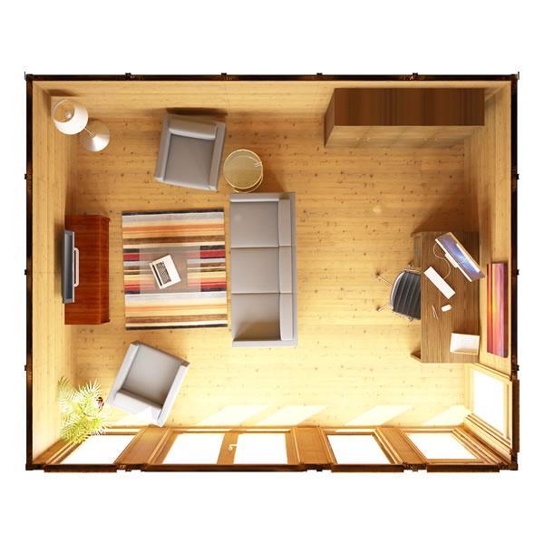 6m X 4m Waltons Wooden Insulated Garden Room Modular Home