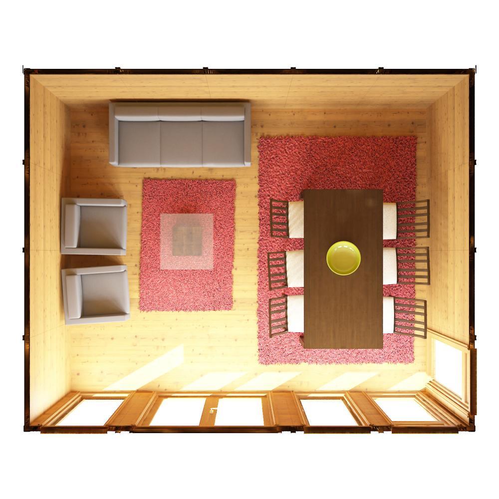3m X 3m Waltons Wooden Insulated Garden Room Modular Home