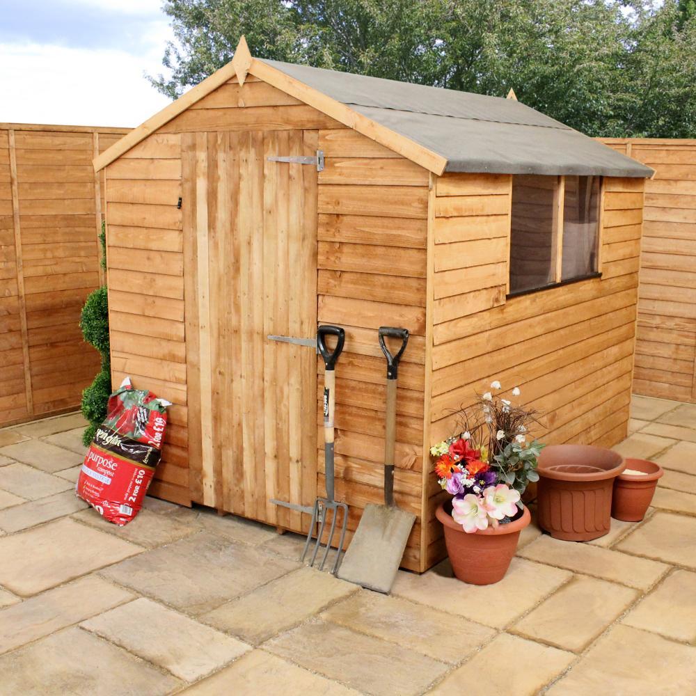 Wooden Garden Shed 8x6 Outdoor Storage Overlap Windows