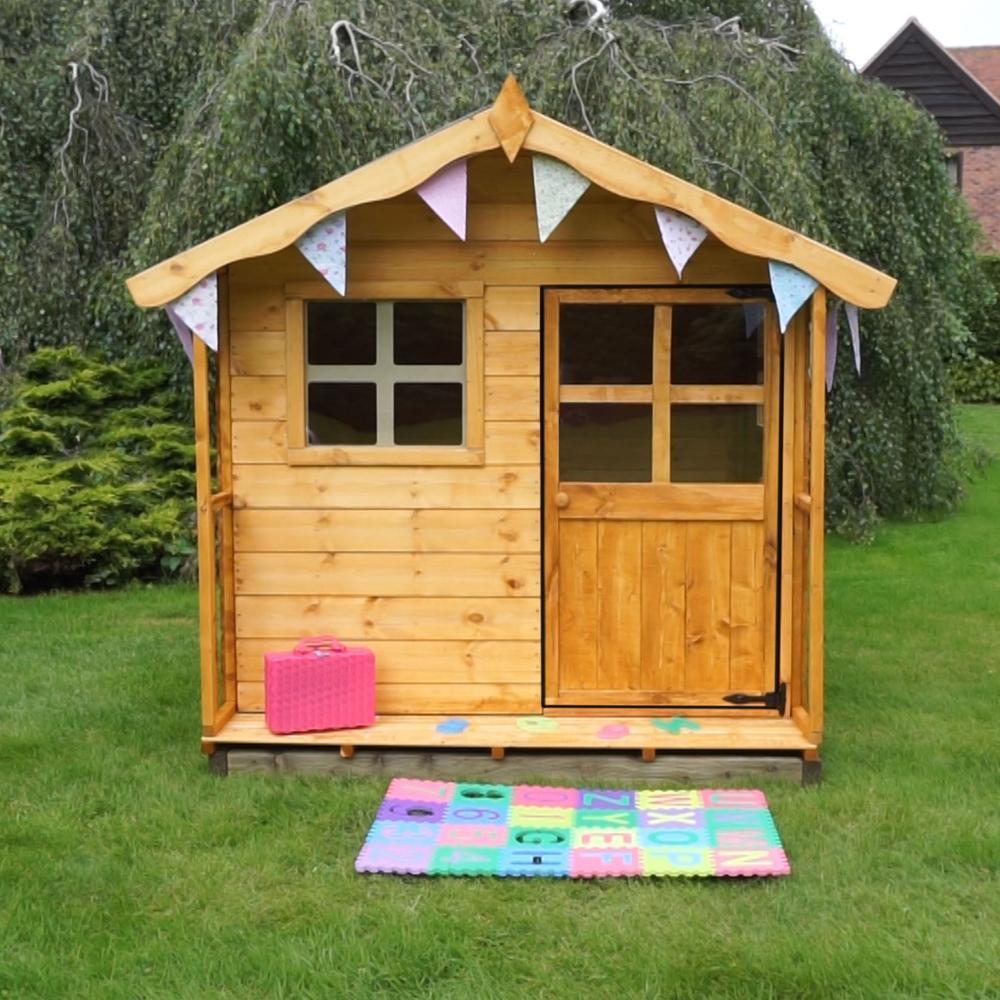 5x5 Wooden Children's Poppy Playhouse Shiplap Windows Apex