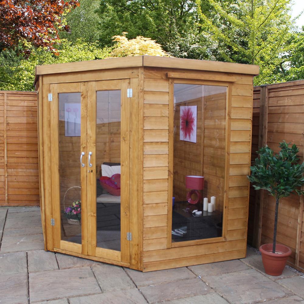 7x7 wooden corner summerhouse premium shiplap tg