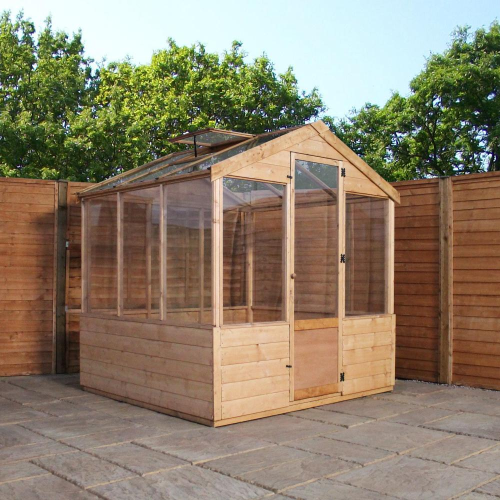 6x6 Wooden Evesham Tongue & Groove Greenhouse Styrene Glazing One ...