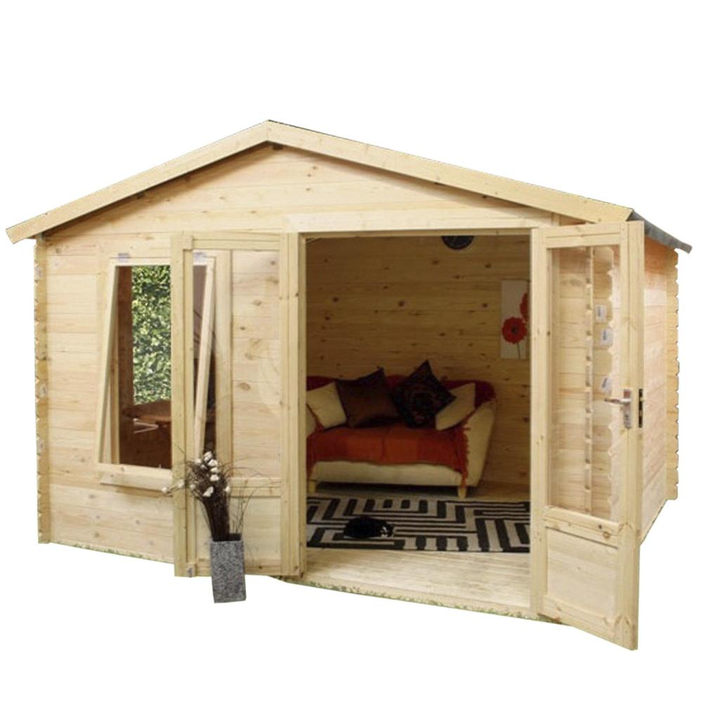 home office cabin. 2.7m X 3.3m Wooden Studio Log Cabin Home Office Single Glazed Apex Roof 19mm