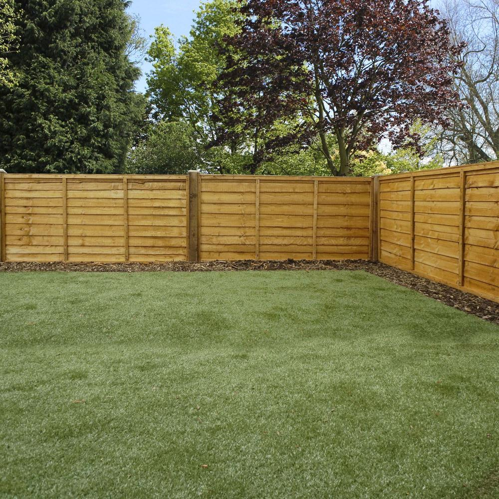 Wooden Overlap Lap Dip Treated Fence Panel Fsc Timber 6ft