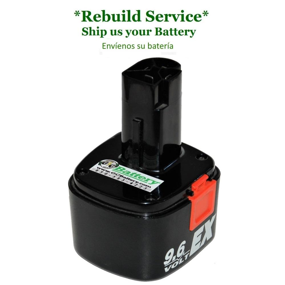 Craftsman 9.6 Volt 1323424 Battery REBUILD Service with 2200mAh NiCd cells