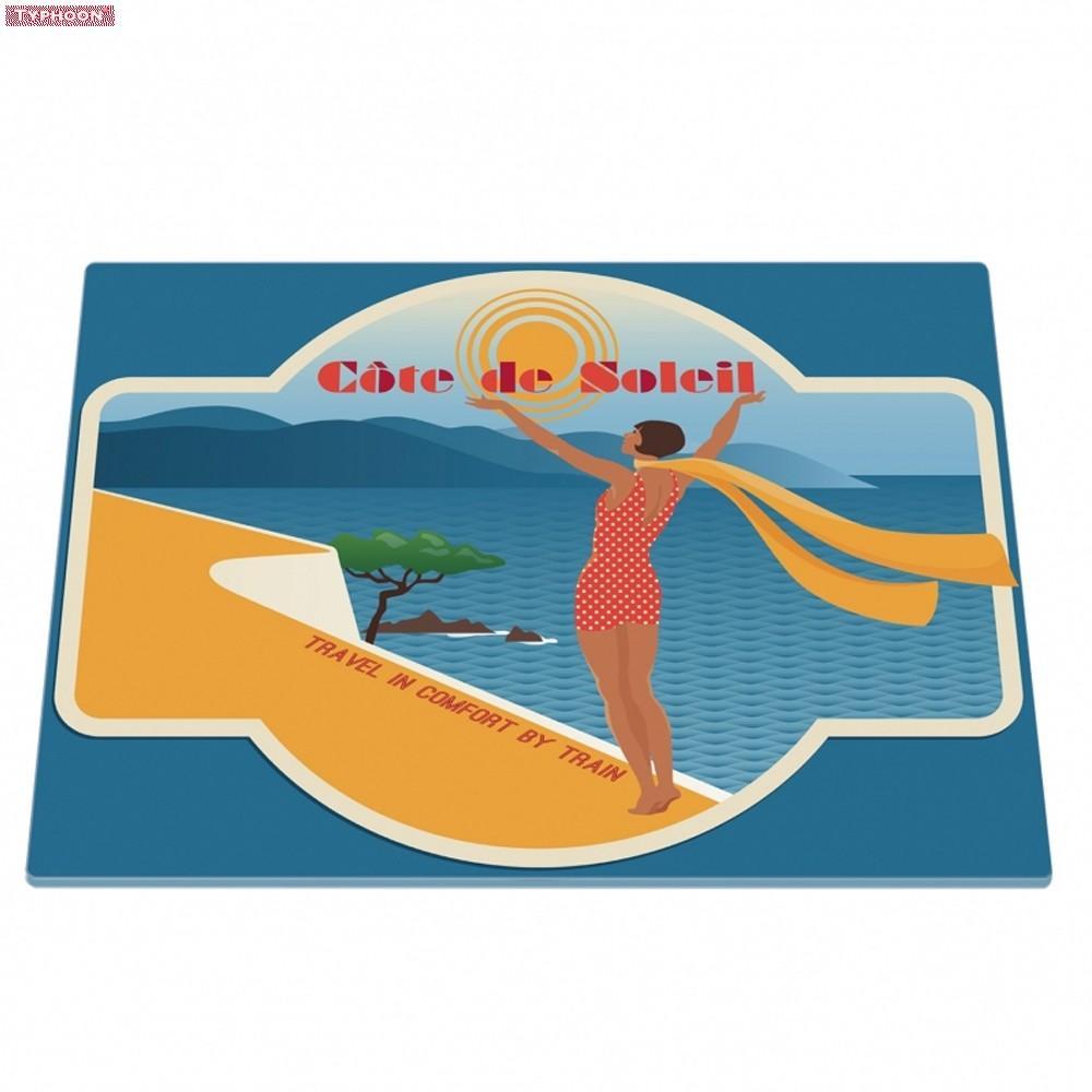 Typhoon Cote De Soleil Travel Poster Rectangular Worktop Protector ...
