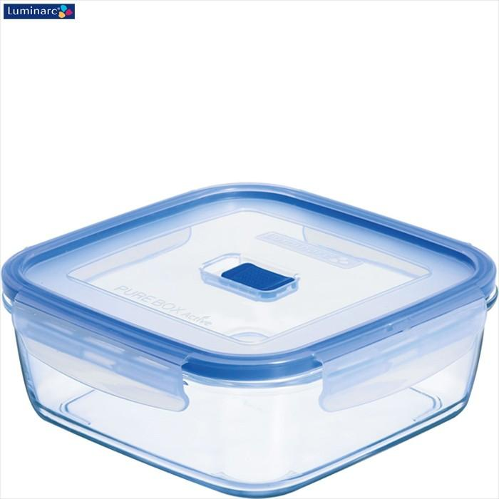 Luminarc Pure Box Active Square Food Container With Lid 25L Storage