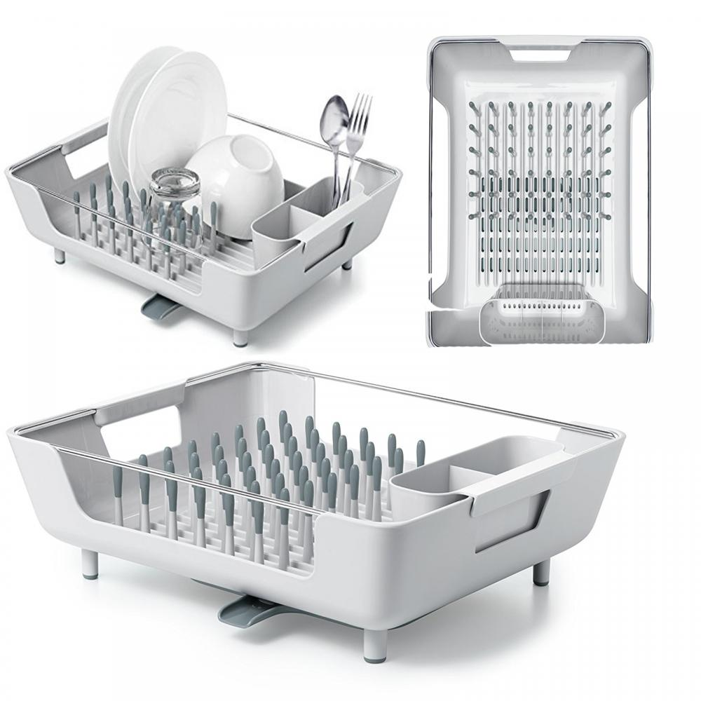 Oxo Good Grips Foldaway Dish Rack Drainer Dryer Grey Ebay