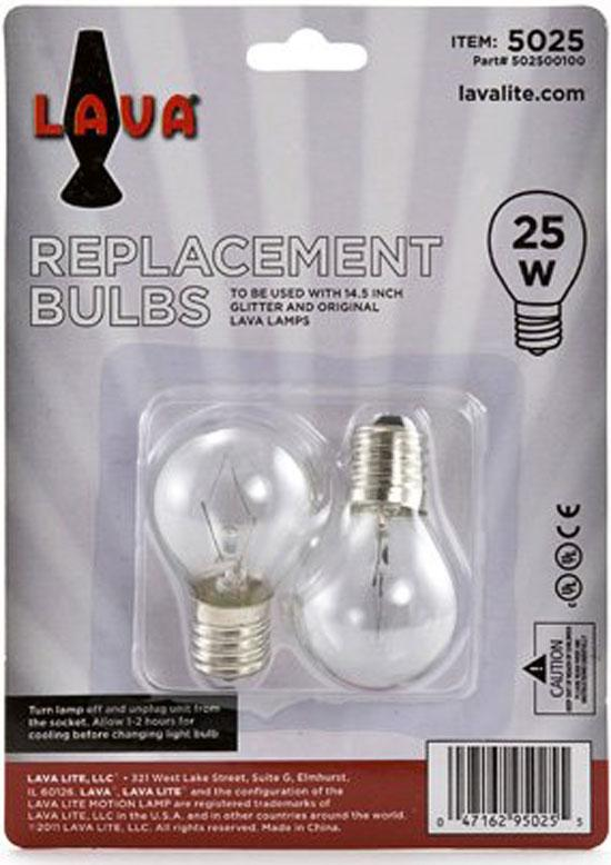 2 Pack Lava Lamp 25 Watt Replacement Bulbs For 14 5 Quot 20oz