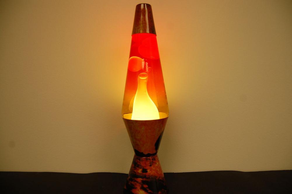 20oz Color Max Volcano Lava Brand Motion Lamp Clear Liquid w/White ...