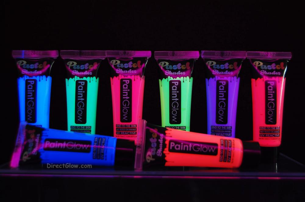 paintglow 44oz uv blacklight reactive pastel face and body paint