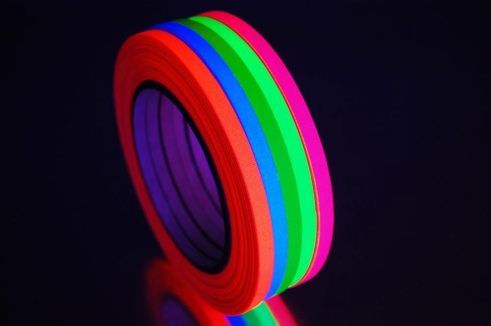 1 4 inch uv blacklight reactive fluorescent gaffer tape 1 roll x 25