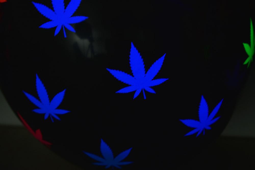Directglow 11 Inch Uv Blacklight Reactive Neon Weed Marijuana Pot