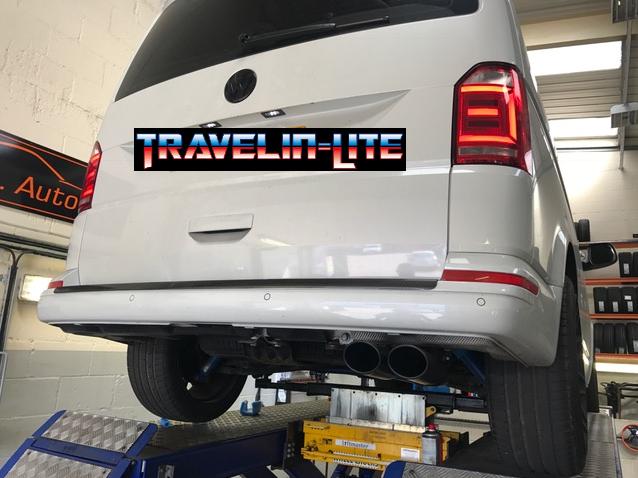 Milltek Exhaust System For Vw T5 T51 T6 Transporter Swb 19 Tdi Black Oval Tips: Vw T5 Exhaust At Woreks.co