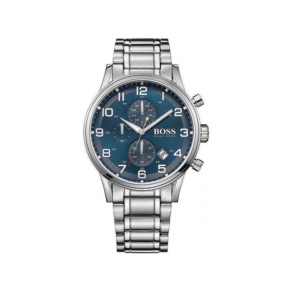 e22e87600fd Mens Hugo Boss Aeroliner Chronograph Watch HB1513183