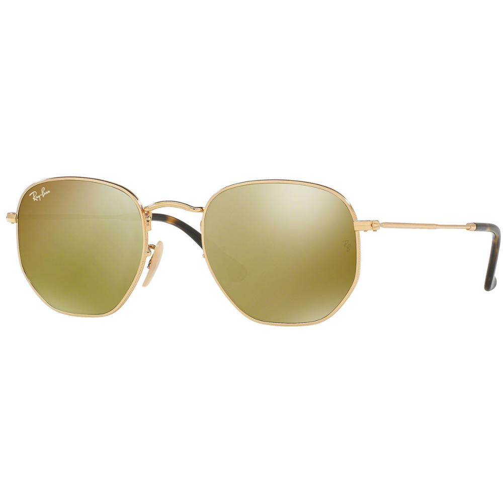 ca8842fcc Details about Ray-Ban Sunglasses Hexagonal Yellow Mirror Lens - Gold Frame  - RB3548N 001/93