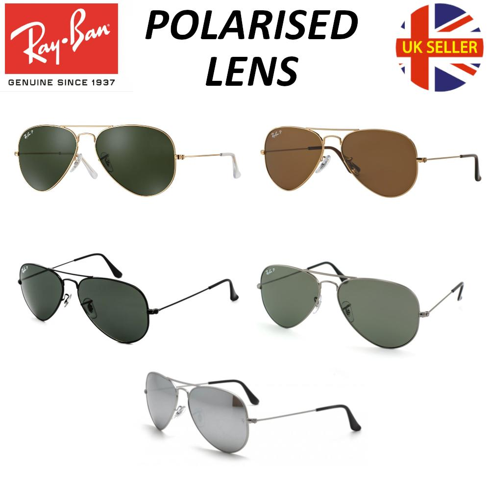 ray ban aviator polarised sunglasses