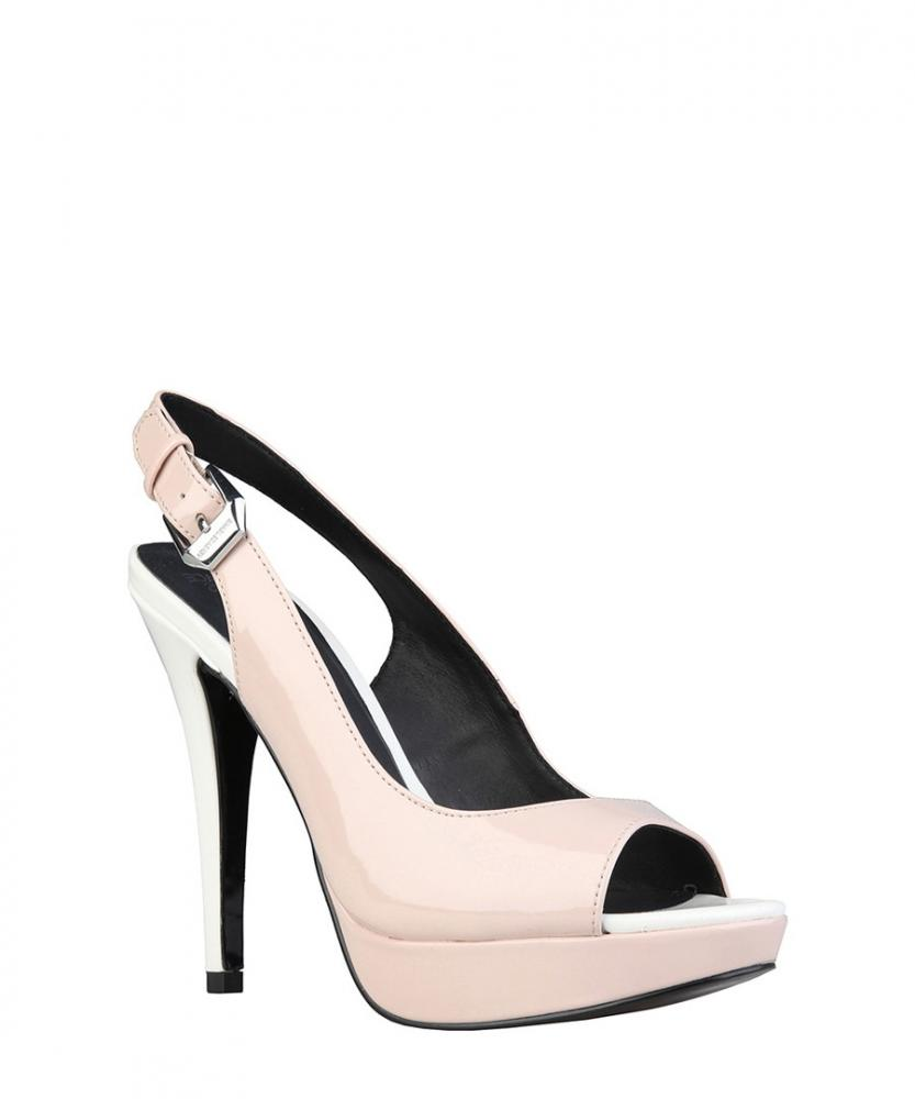 262fe5f6fb Versace Jeans Womens Patent Leather Heels Shoes Pink White Sz 5uk   eBay