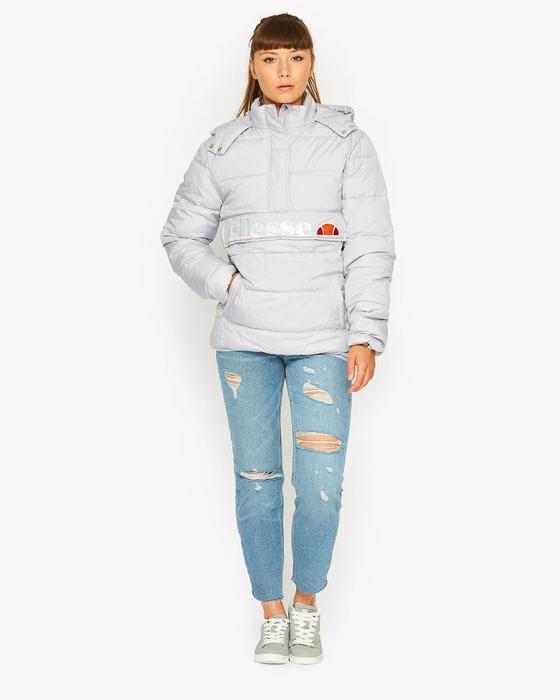 New Ellesse Womens Jacket Padded Hooded Andalo Optic White Puffa Overhead 10uk