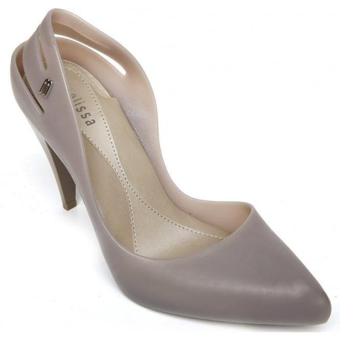 8a4fbb074ec Details about Melissa Womens Shoes Classic Heels Grey Sz 8.5uk eu41/42