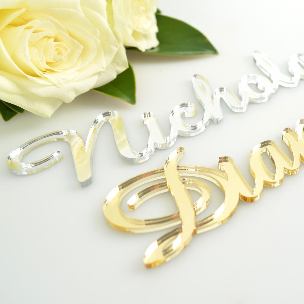 Laser Cut Acrylic Name Place Cards Decorations