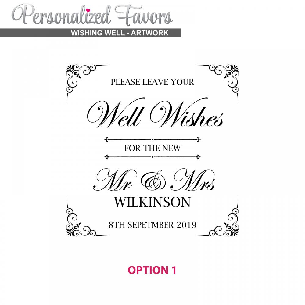 Personalised Favours Wedding Card Box For Reception Clear Engraved