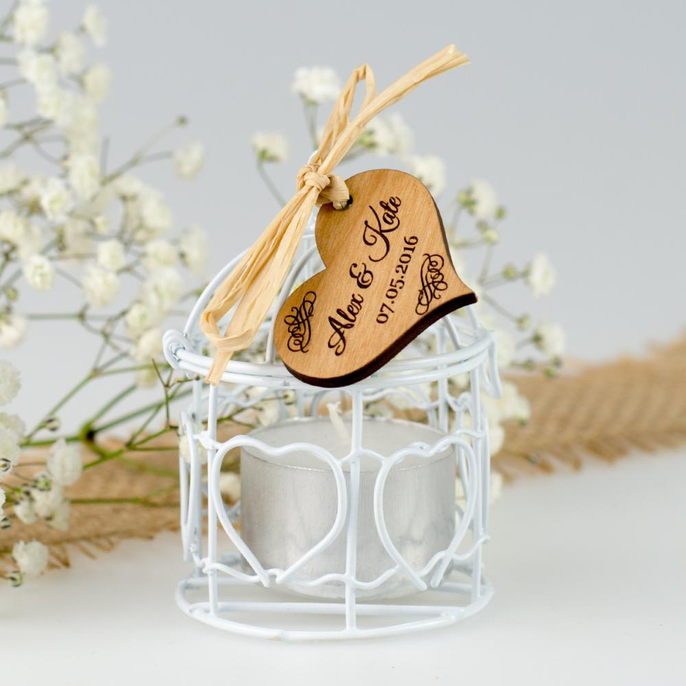 Personalised Favours Birdcages for Wedding - Tea Light Candle ...
