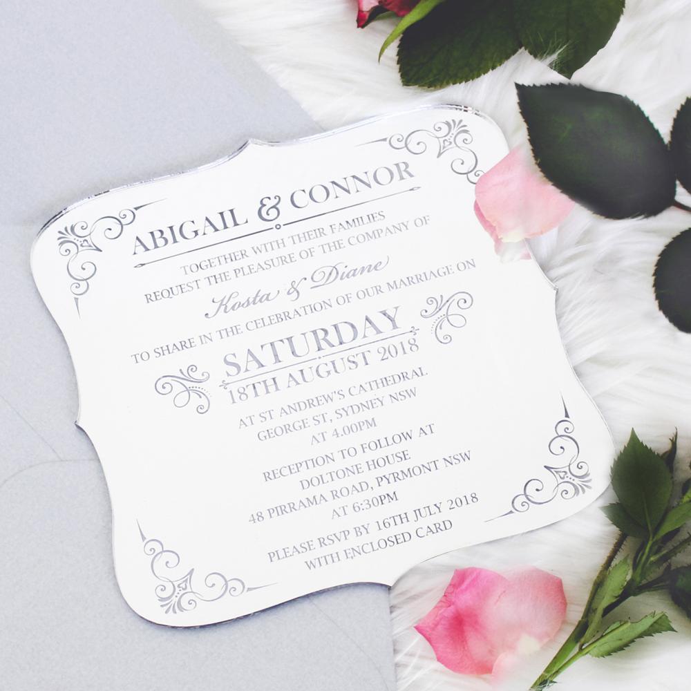 50 x engraved acrylic wedding invitations royal style includes 50 x engraved acrylic wedding invitations royal style includes guest names stopboris Images