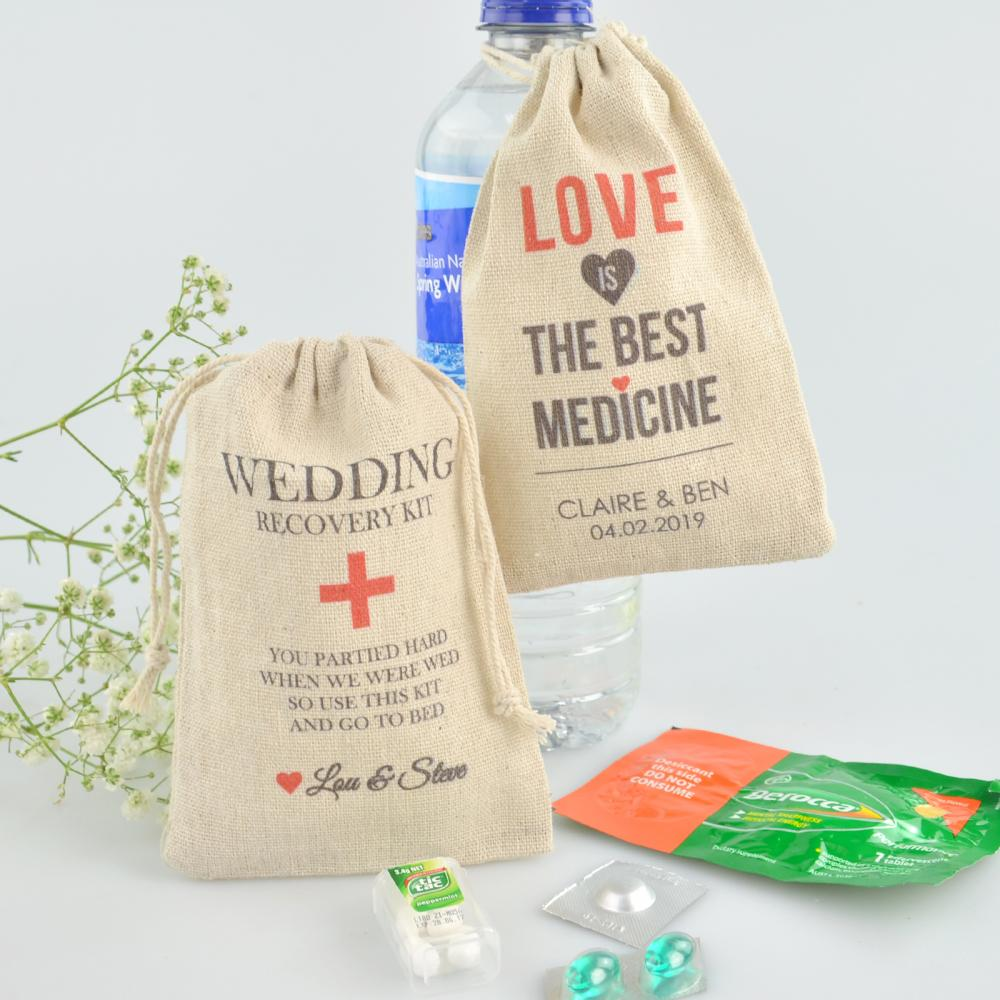 Personalised Favours Wedding Day Survival Kits For Guests