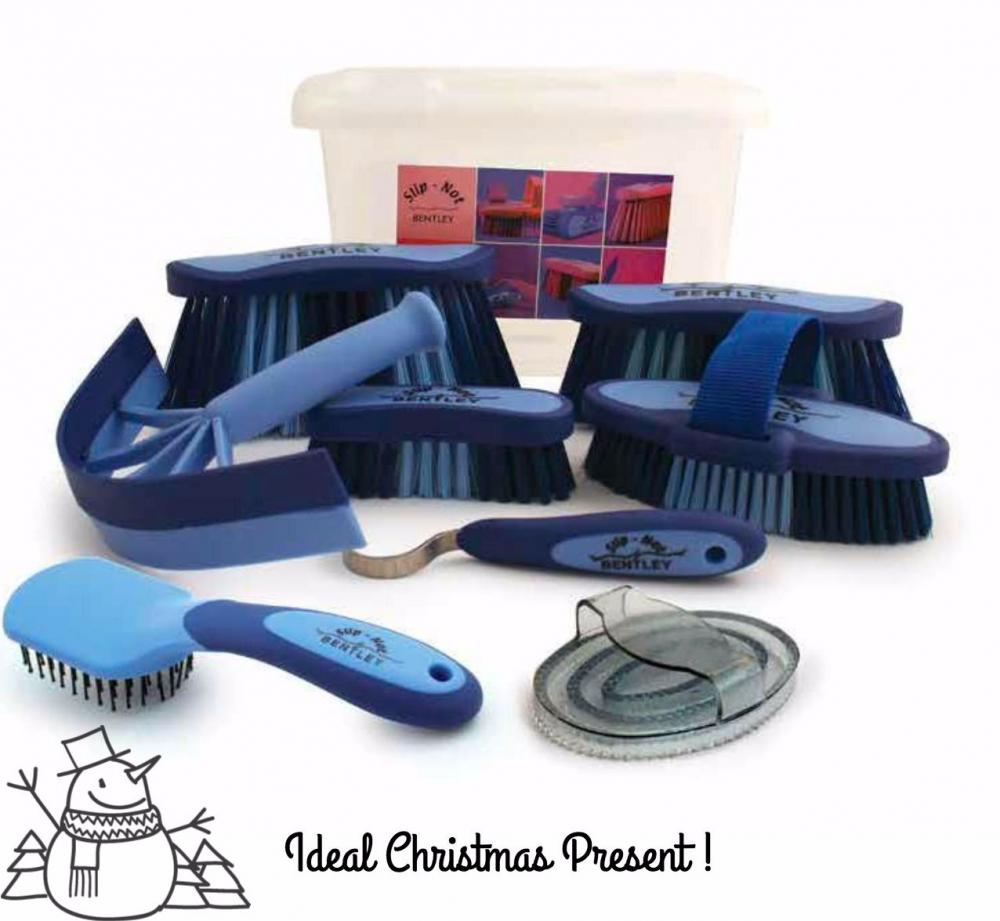 Bentley Slip Not Hoof Brush Pink At Burnhills: Horse / Pony Blue Grooming Kit With Handy Box By Bentley