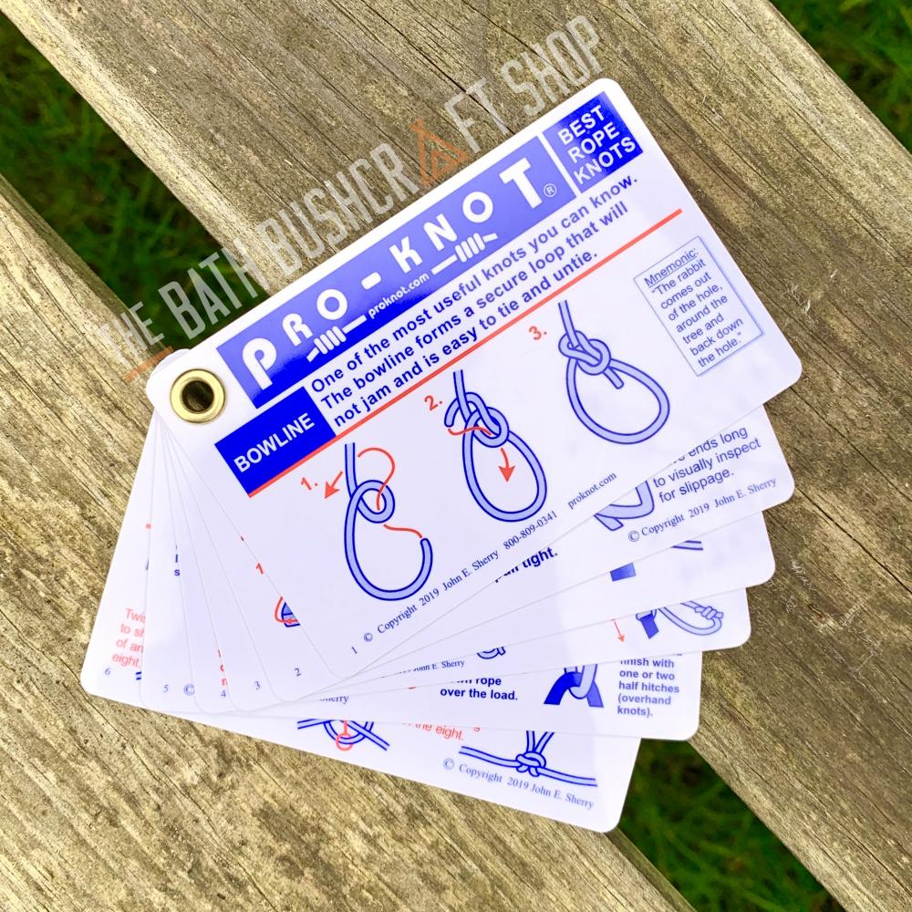 Pro-Knot Waterproof Outdoor Knot Cards Book Learn To Tie Knots PKO101
