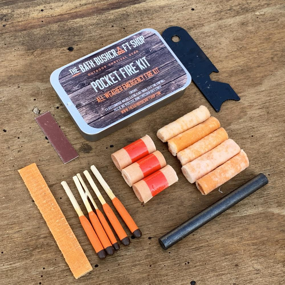 Télescopique En Acier Inoxydable Poche SOUFFLET Bushcraft Survie EDC Fire Lighting