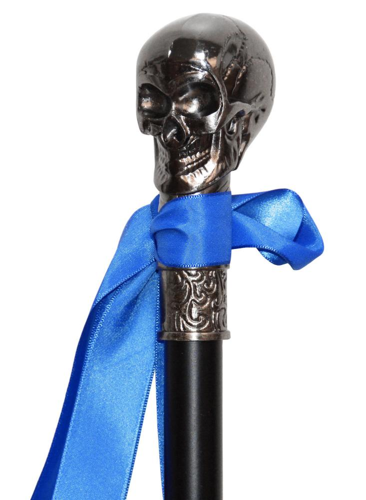 Skull Walking Cane Gothic Vampire Halloween Adult Costume Accessory Cosplay Prop
