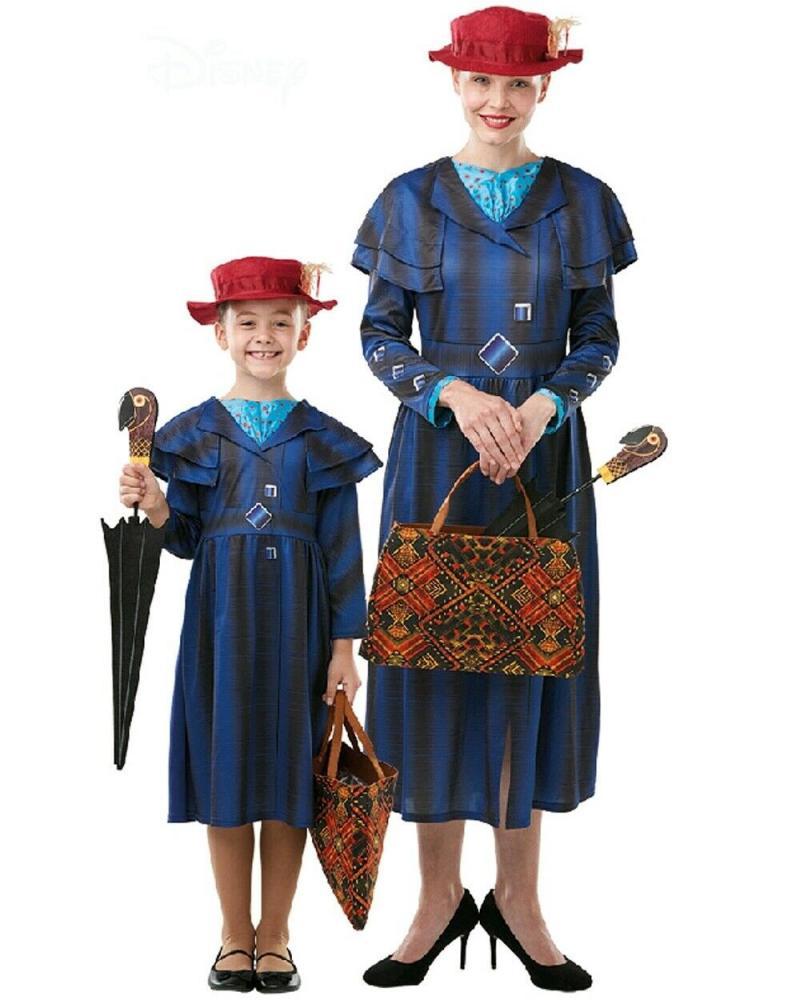 Mary Poppins Returns Handbag Umbrella Accessories Set Ladies Child Girls Costume