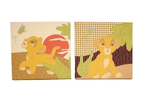 Disney Baby The Lion King 2-Piece Canvas Wall Art *New* | eBay