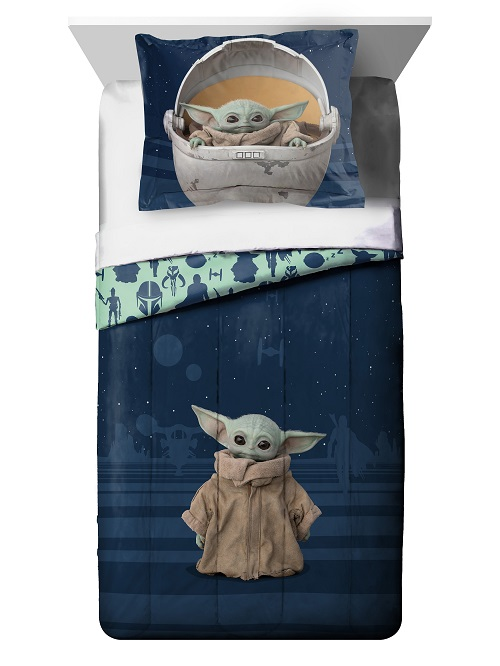 Disney Star Wars Mandalorian Baby Yoda 5PC Twin Bedding ...