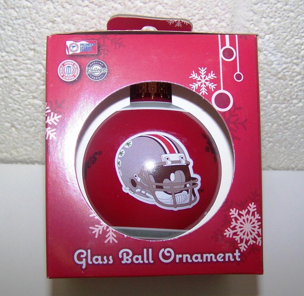 Ohio State Buckeyes NCAA Glass Ball 2 5/8\