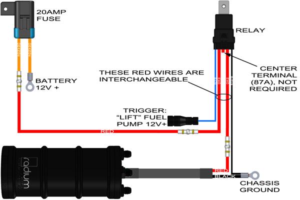 Ingeniería De Radio-hágalo usted mismo kit de cableado con Relé De Bomba De Combustible Y Fusible #17-0031