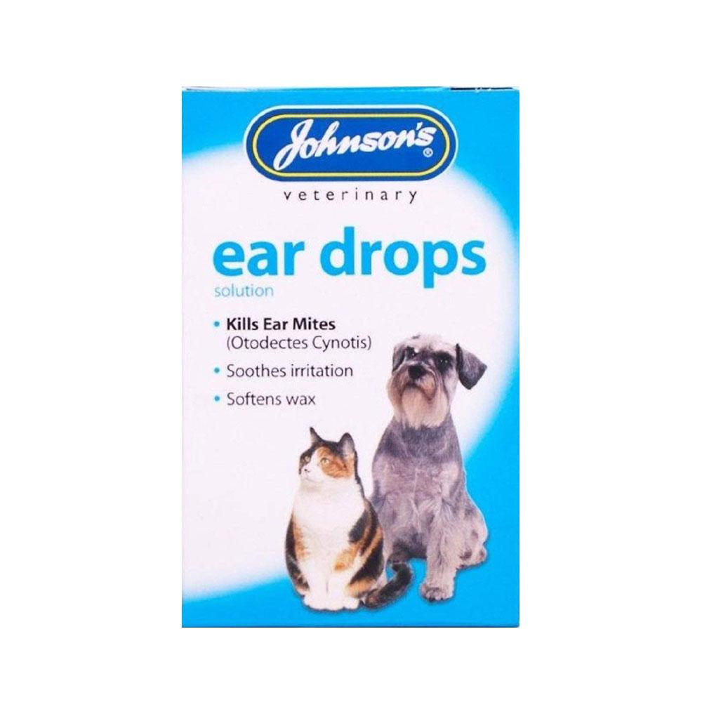 Details about Johnson's Veterinary Dog Cat Ear Drops - Soothes Itching  Infection & Kills Mites