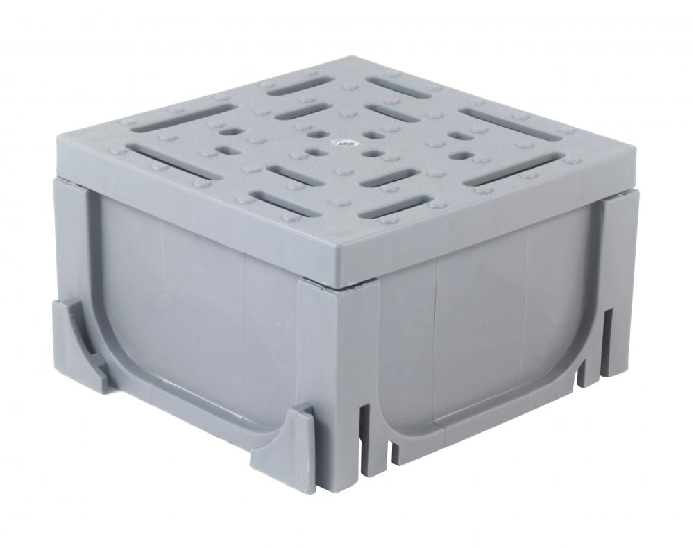End Outlet Connector for Gray Plastic Drain UA-100 Series