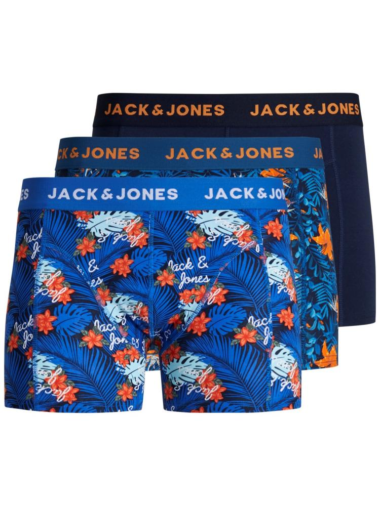 exclusive range outlet boutique large discount Details about Jack & Jones Mens New 3 Pack Trunks Boxer Shorts Underwear  Floral Navy