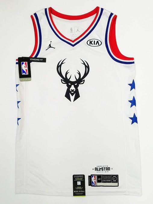 GIANNIS ANTETOKOUNMPO Autographed Bucks 2019 All Star ...